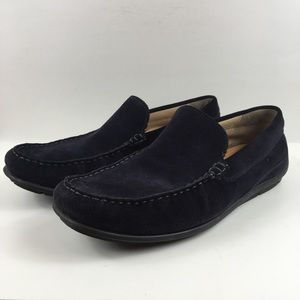 Ecco blue suede drivers slip on shoe size 45